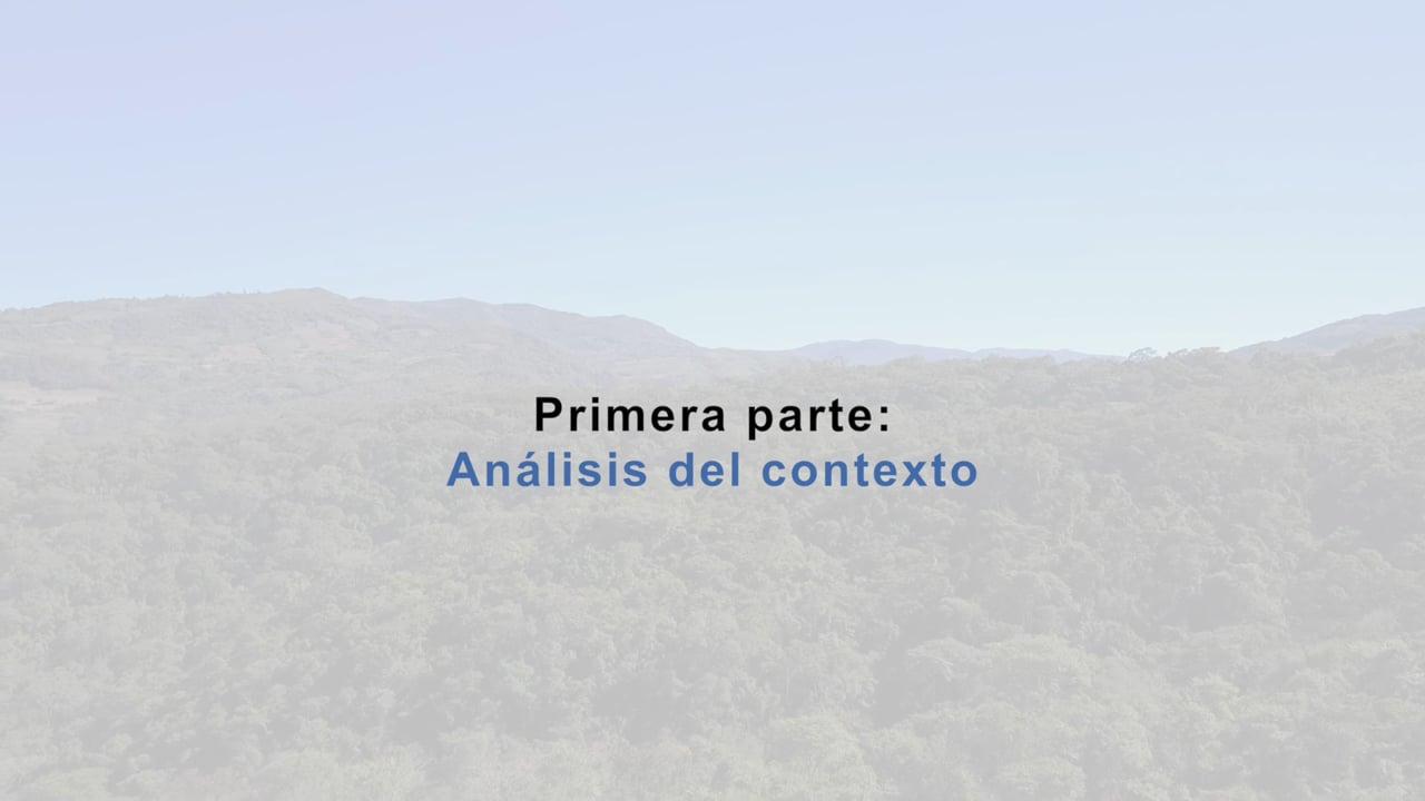 Gobernanza ambiental participativa en comunidades campesinas. Contexto