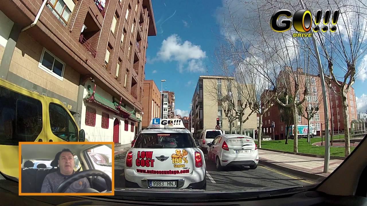 Autoescuela GO!!! en Bilbao: cambios de carril en zona baja de Barakaldo